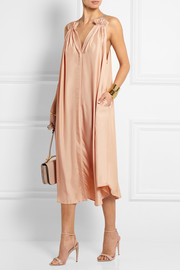 The Lily satin-twill dress