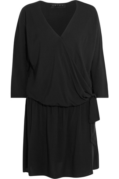 Hatch - The Brunch Poplin Dress - Black