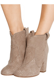 Pete studded suede ankle boots