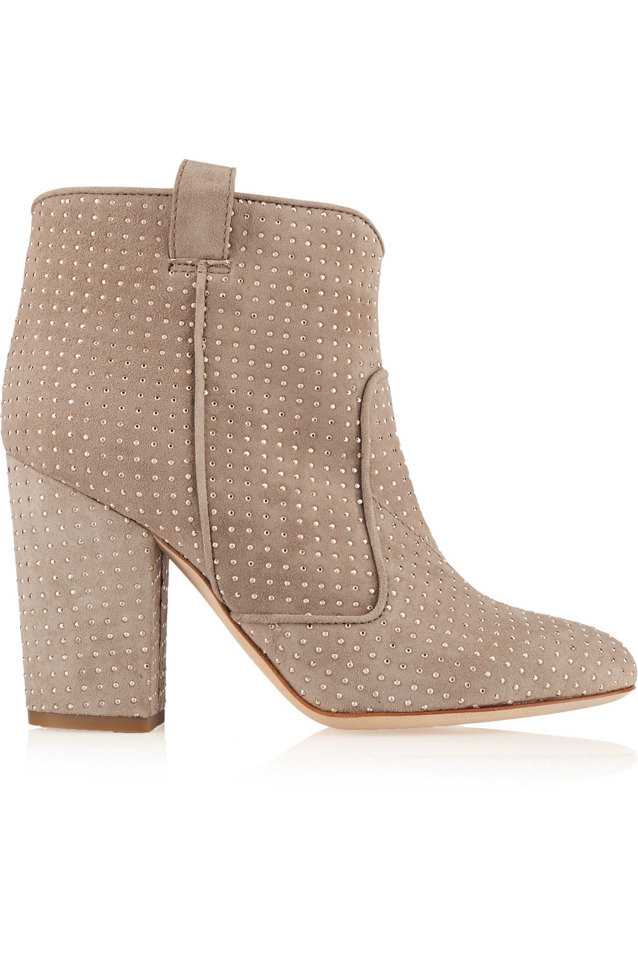 Laurence Dacade Pete Studded Suede Ankle Boots, Mushroom, Women's US Size: 7, Size: 37.5