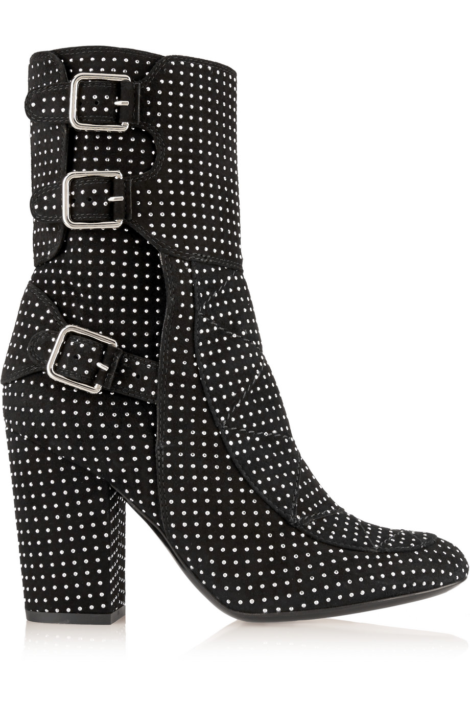 Laurence Dacade Merli Studded Suede Boots, Black, Women's US Size: 7, Size: 37.5
