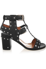 Helie studded textured-leather sandals