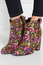 Pete embroidered canvas ankle boots