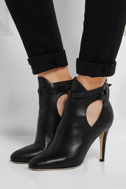 Marina cutout leather ankle boots