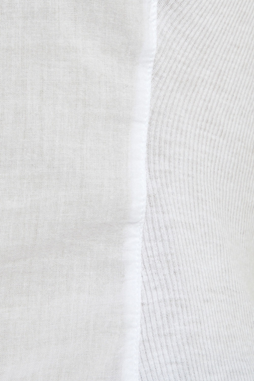 James Perse Paneled cotton shirt