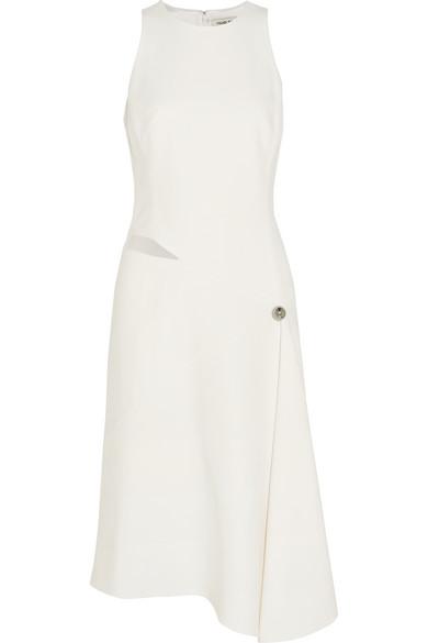 Asymmetric Cutout Crepe Dress by Mugler