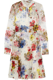 Devika floral-print silk-chiffon dress