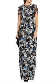 Felicitas belted floral-print silk-chiffon maxi dress