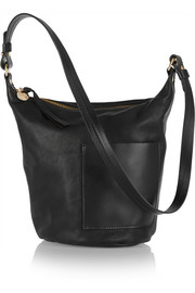 Petite Jeanne textured-leather shoulder bag
