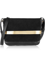 Lou leather and suede shoulder bag