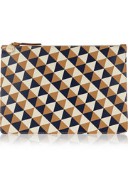 Clare V Margot printed leather clutch