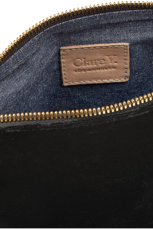 Clare V. Mimi velvet clutch