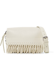Bianca small fringed leather shoulder bag
