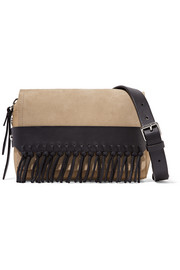 3.1 Phillip Lim Bianca small fringed suede and leather shoulder bag