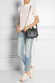 3.1 Phillip Lim The Pashli mini denim and textured-leather trapeze bag