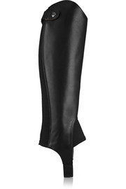 Close Contour grained-leather chaps
