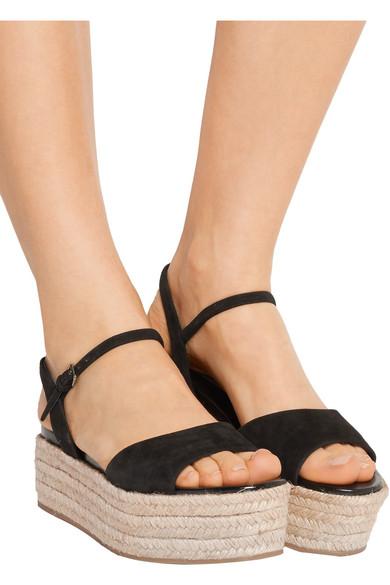 8490384637eb Miu Miu. Suede espadrille platform sandals