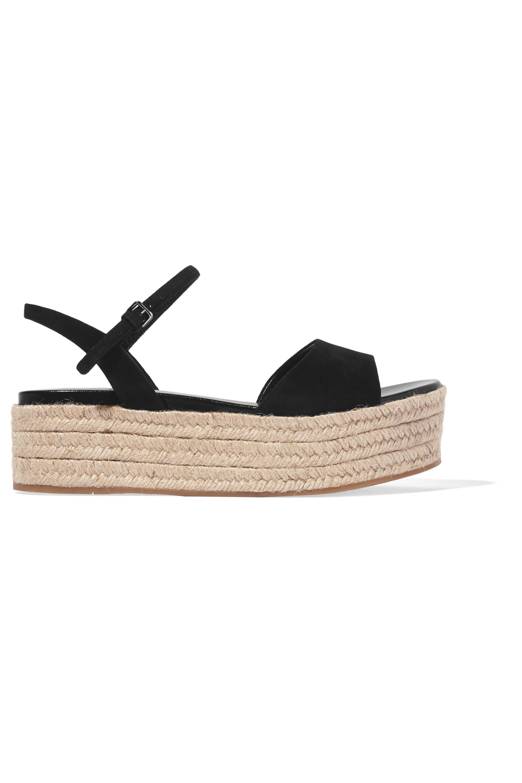 Miu Miu Suede espadrille platform sandals
