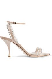 Miu Miu Embellished patent-leather sandals