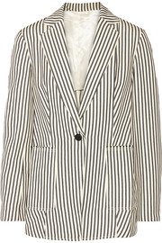 Striped canvas blazer