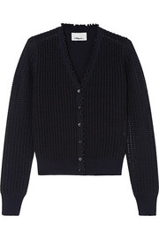 3.1 Phillip Lim Metallic pointelle-knit wool-blend cardigan