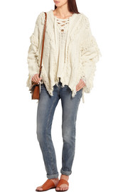 3.1 Phillip Lim Oversized fringed knitted sweater