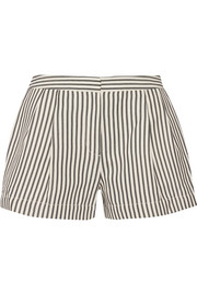 Striped canvas shorts