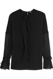 3.1 Phillip Lim Ruffled crepe and silk-georgette blouse