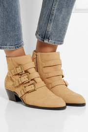 Chloé Susanna studded textured-leather ankle boots