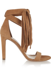 Tasseled suede sandals