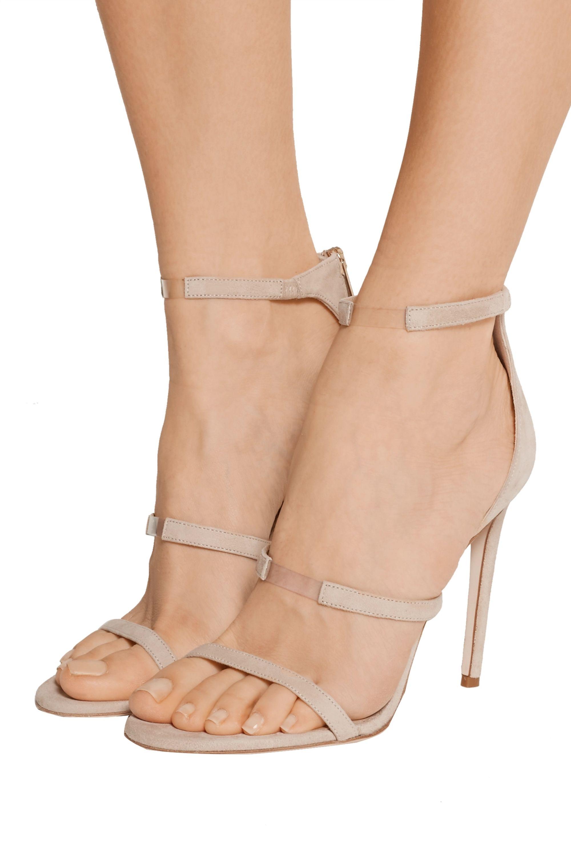 Tamara Mellon Horizon PVC-trimmed suede sandals