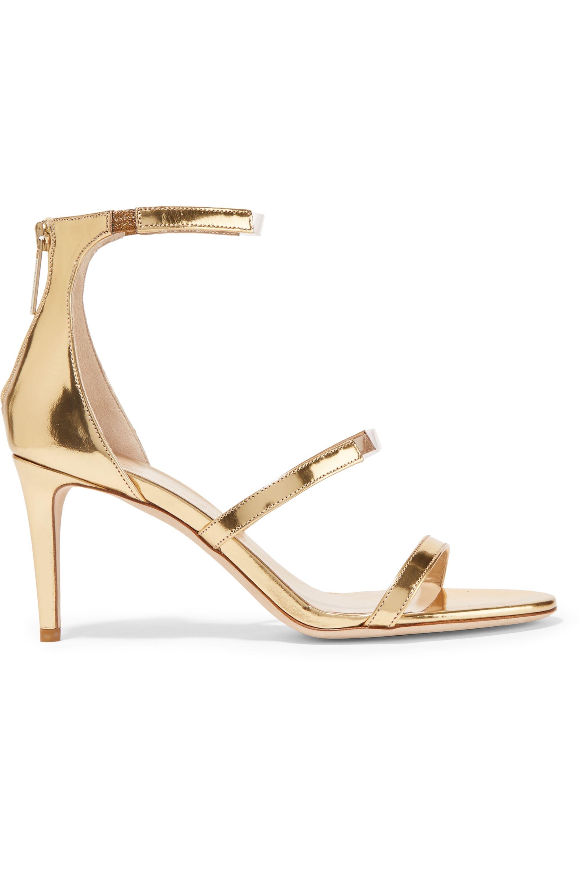 Tamara Mellon Horizon PVC-trimmed metallic leather sandals
