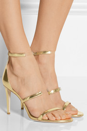 Horizon mirrored-leather sandals