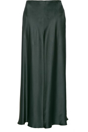 Afrol hammered-satin maxi skirt