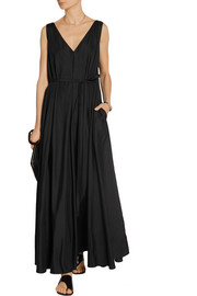 Adabra silk-poplin maxi dress