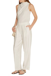The Row Daray satin-twill wide-leg pants