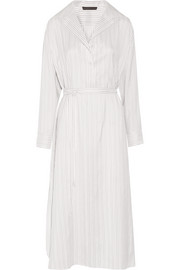 Luid striped silk-jacquard dress