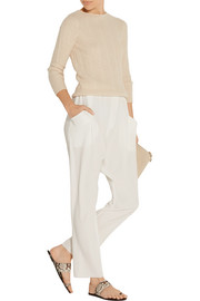The Row Ribia cashmere and silk-blend sweater