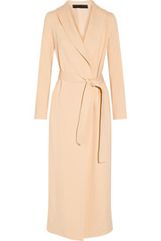 Damo crepe wrap coat