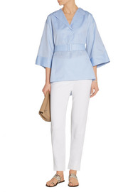 The Row Hona belted cotton-twill tunic