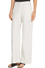 The Row Muro cropped high-rise wide-leg jeans