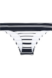 Heidi Klein Como fold-over striped bikini briefs