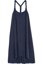 Como washed stretch-jersey dress