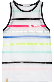 Performance Airstream striped mesh top