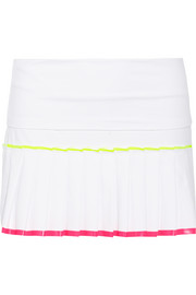 Monreal London Pleated stretch-jersey tennis skirt