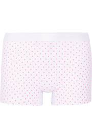 Polka-dot stretch-jersey shorts