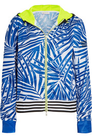 Monreal London Curacao printed stretch-jersey hooded jacket