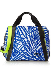 Curacao printed leather-trimmed canvas shoulder bag