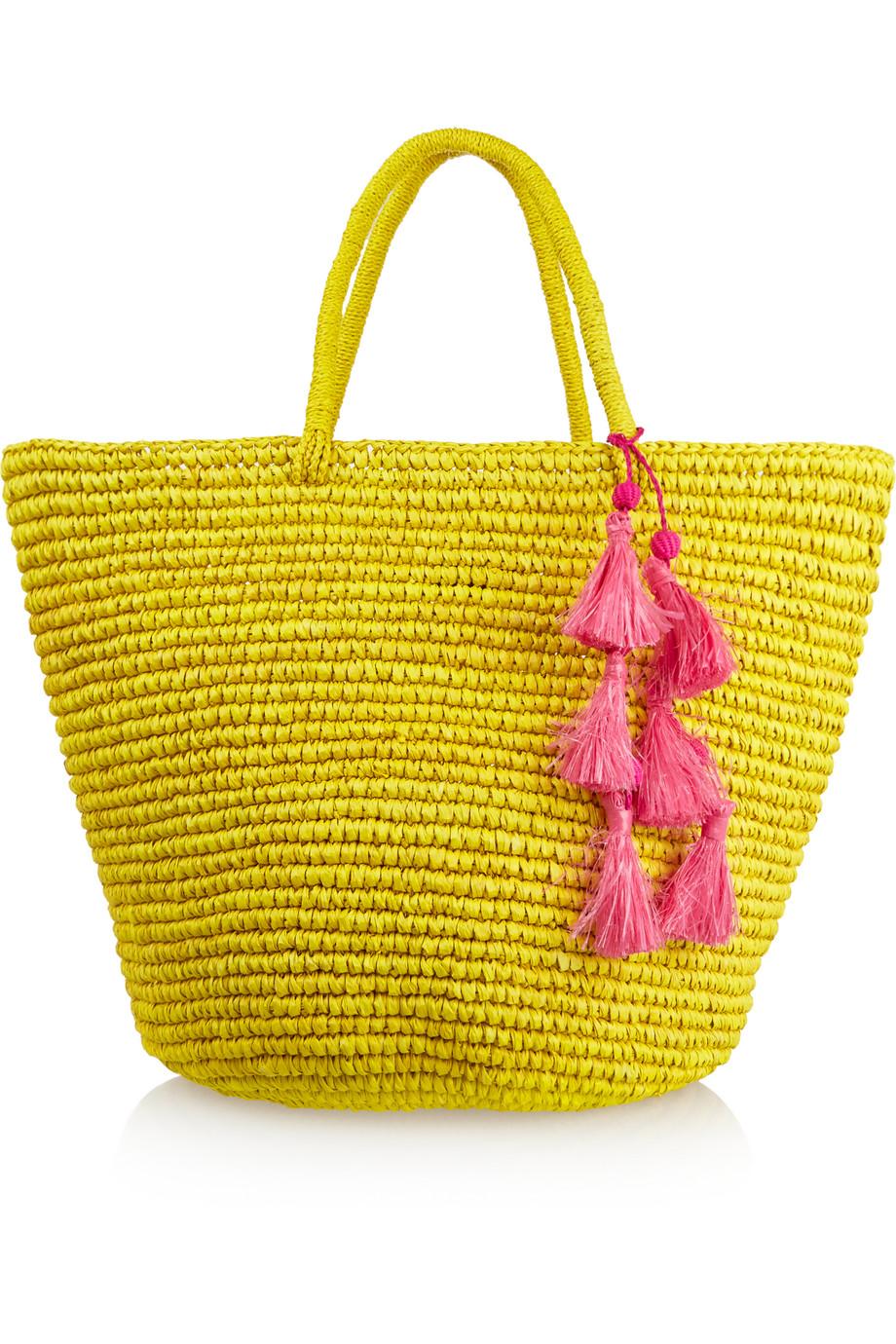 Sensi Studio Maxi Woven Toquilla Straw Tote, Yellow, Women's