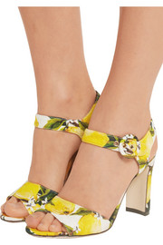 Dolce & Gabbana Printed faille sandals